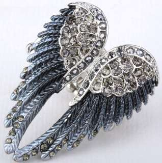 crystal angel wing stretchy ring JEWELRY 2;buy 10 items