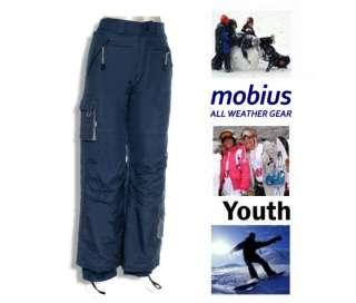 NEW MOBIUS CARGO Waterproof Navy Blue Ski/SNOW PANTS Girls/Boys M 10