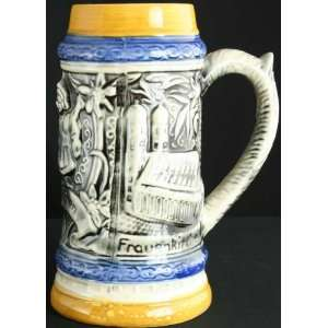 Vintage German Large Barware Ceramic Beer Stein Munich Munchen
