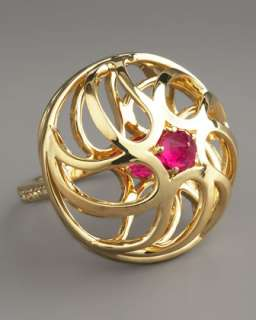 Round Cut Gold Ring