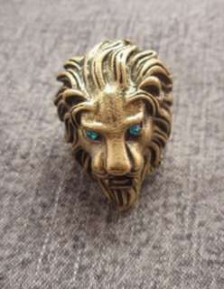 Fashion Men Lady Jewelry Accessories Gold Lion King Retro Ring