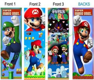 SUPER MARIO BROS Brothers BOOKMARK Birthday party Favor