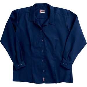 Dickies   Womens Long Sleeve Button Down Wicking Shirt Women