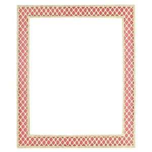 Olivia Riegel Luxury 8 x 10 Pink Enamel & Gold Tone Metal Lattice