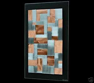 ABSTRACT STEEL COPPER MODERN METAL ART WALL SCULPTURE