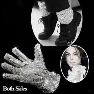 2PCS MICHAEL JACKSON MJ Billie Jean Costume Glove+Socks