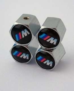 Metal 4 PCS Anti Theft TIRE AIR VALVE STEMS CAPS for BMW