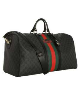 Gucci black GG plus large travel duffle