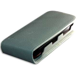 White Leather Flip Case Pouch Skin Protector Nokia 5800