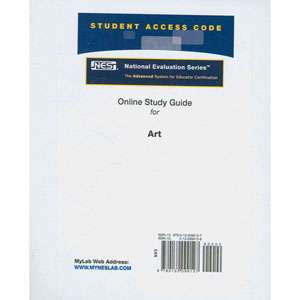 National Evaluation Series Art Exam Online Tutorial Access Code Card