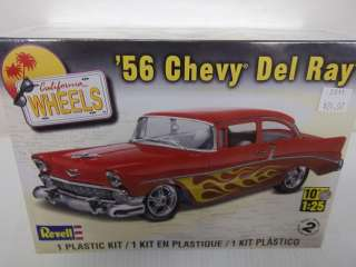 REVELL 1/25 SCALE  56 CHEVY DEL RAY 1956 CALIFORNIA WHEELS MODEL KIT