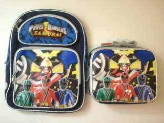 Licensed Power Rangers Samurai Sentai School Large Backpack & Lunch