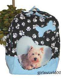 MALTESE DOG ~ PAW PRINT QUILTED BACKPACK PURSE ~ BAG
