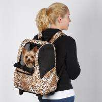 Cheetah Animal Print Backpack Dog Pet Carrier