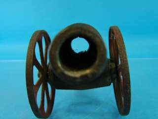 Cannon 7 FB Cast Iron Toy Red Wheels 10 long Desk Top Display