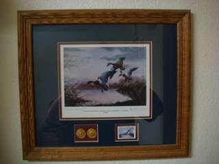 Original Signed Print 1985 1986 Final Flight Framed Duck Hunting Art