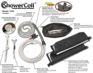 BoundaryTEC ShowerCoil Portable Water Heater Shower solar sun hot camp