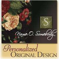 Personalized Custom Folded Note Cards floral monogram