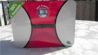 New One Planet Eco Ozone Hot Pink Lunchbox Tin Tote Metal Lunch Box