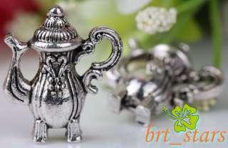 20 Pcs Tibetan silver bali style Art teapot Flagon charms Pendants 19