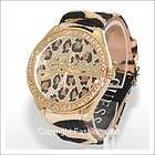 guess ladies animal print crystal watch 85089l1 one day shipping