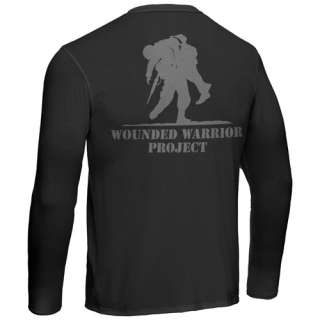 UNDER ARMOUR HG MENS WOUNDED WARRIOR PROJECT LS T BLK