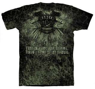 RANGER UP MACP ALL ARMY WARRIOR MMA SHIRT BLACK LARGE