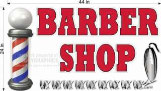 LARGE VINYL DECAL FOR BARBER SHOP WINDOW OR WALL