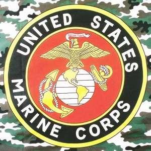 USMC Marine Corps Flag Caouflage w Emblem Crest Eagle Globe Anchor