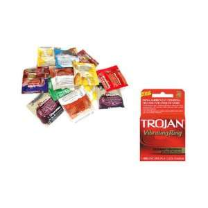 Premium Latex Condoms Lubricated 48 condoms Plus TROJAN VIBRATING RING