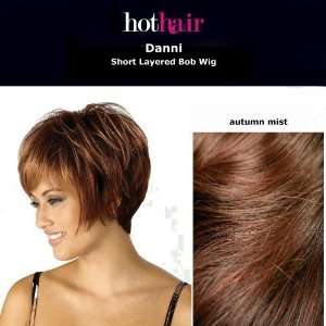 Hothair Danni Short Layered Bob Wig Glazed Mocha .co.uk Beauty